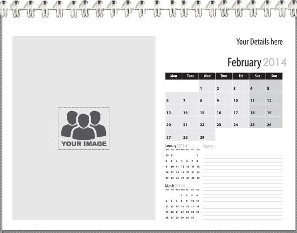 Template Of Calendar Printing4u